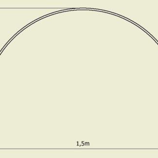 Pałąki, łuki, rura do tunelu foliowego (100x150cm) 10sztuk